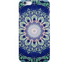 blue flowers mandala  iPhone Case/Skin