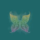 Butterfly Magic Dusky Emerald Green Skirt by Melissa Park