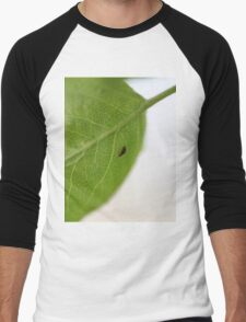 Macro Bug on a Leaf Men's Baseball ¾ T-Shirt