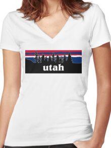 Utah Women's Fitted V-Neck T-Shirt