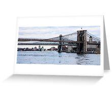 Brooklyn Bridge mixed media Greeting Card