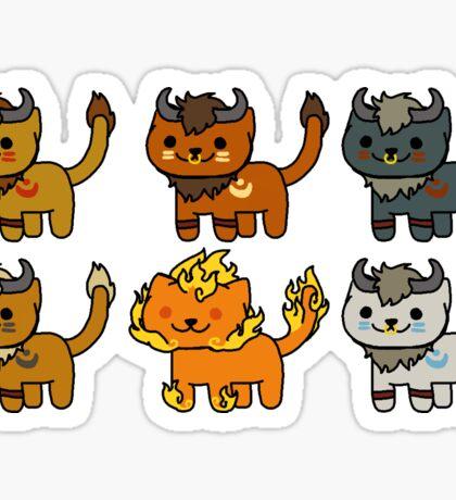 Neko Atsume Feral Druid Taurens Sticker