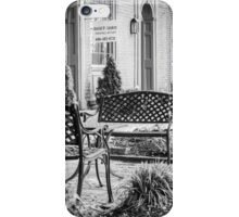 Augusta KY Benches B&W iPhone Case/Skin
