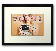 Old photo collection PIN-UP Framed Print
