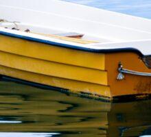 Yellow Row Boat Sticker
