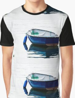 Blue Row Boat Graphic T-Shirt