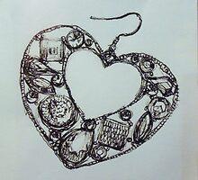 heart shaped earring by artbysamb