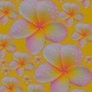Luminous Sunny Yellow Frangipani Skirt by Melissa Park
