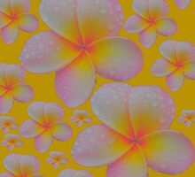 Luminous Sunny Yellow Frangipani Skirt by Melissa Park