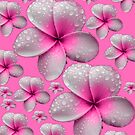 Lovely Tropical Pink Frangipani Skirt by Melissa Park