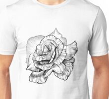 black ink rose Unisex T-Shirt