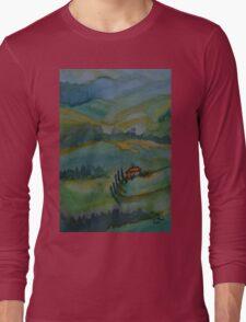 Shades of Tuscany Green Long Sleeve T-Shirt
