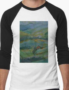 Shades of Tuscany Green Men's Baseball ¾ T-Shirt