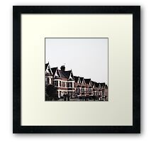 early morning Edwardian houses in Frome, Somerset Framed Print