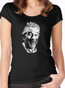 De Niro Face Women's Fitted Scoop T-Shirt