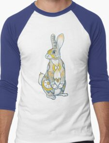 Mandala Bunny Men's Baseball ¾ T-Shirt