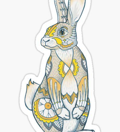 Mandala Bunny Sticker