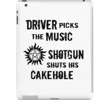 Supernatural Driving Rules iPad Case/Skin