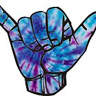 Blue and Purple Tie Dye Shaka by amariei