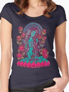 Blue Tara Tera Divine Gea Goddess Women's Fitted Scoop T-Shirt