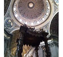Bernini's Baldacchino & Dome by Brian Mason