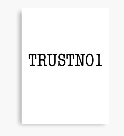 TRUSTNO1- The X-Files Canvas Print