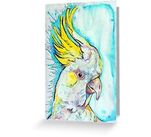 Blue Cockatoo Greeting Card