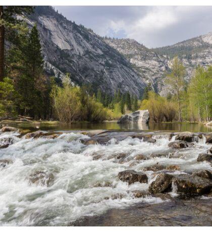 Mirror Lake and Rapids at Yosemite Sticker