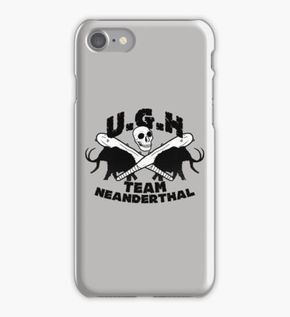 Prehistoric baseball team iPhone Case/Skin