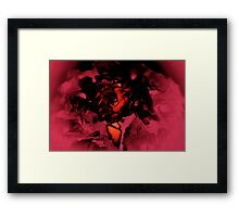 Flower Emerges on Wings Framed Print