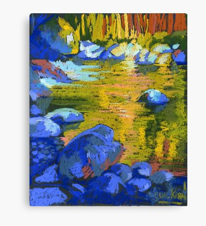 Golden Water. Lynn Creek. Canvas Print