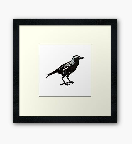 Ol' Crow White Feather from the Eliot Neighborhood, Portland, OR Framed Print