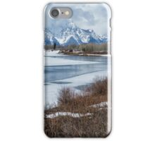 Grand Tetons from Oxbow Bend iPhone Case/Skin
