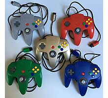 N64 Controllers Photographic Print