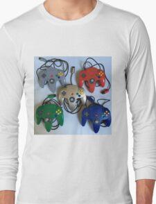 N64 Controllers Long Sleeve T-Shirt