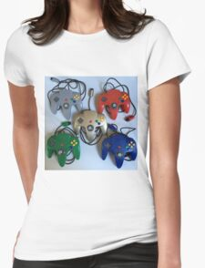 N64 Controllers Womens Fitted T-Shirt