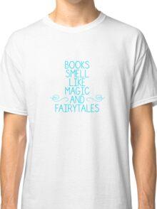 Books Magic Fairytales Blue Classic T-Shirt