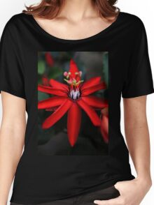 Red... Women's Relaxed Fit T-Shirt