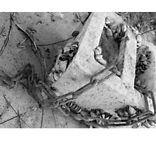 Cement Chains Photographic Print