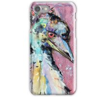 Emu with red iPhone Case/Skin