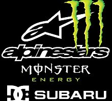 DC ALPINESTAR MONSTER ENERGY SUBARU by dxdesign