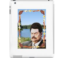 Ron Swanson: Man, Myth, Legend iPad Case/Skin