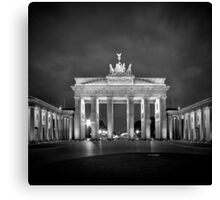 Brandenburg Gate BERLIN black and white Canvas Print