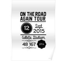 12th September - Gillette Stadium OTRA Poster