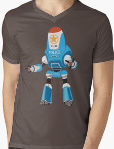 PROTECTRON: POLICE Mens V-Neck T-Shirt