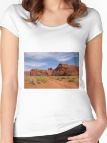 I Will Go Where The Road Leads Me Women's Fitted Scoop T-Shirt