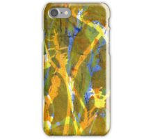 Native Grasslands 3C Restoring Biodiversity 3 of 3 Acrylic Monoprint iPhone Case/Skin