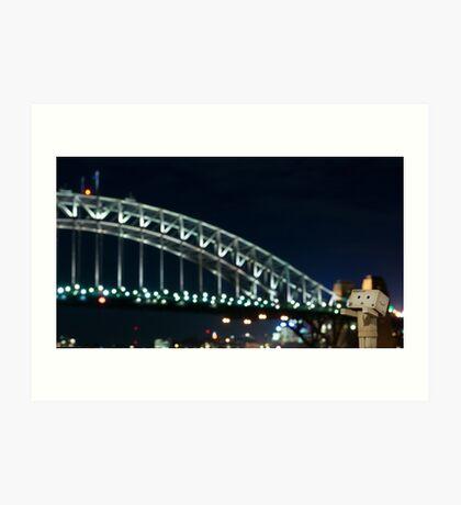 The Danbo Harbour Bridge Art Print