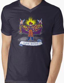 Goku god mode  Mens V-Neck T-Shirt