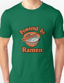 Powered By Ramen funny nerd geek geeky T-Shirt